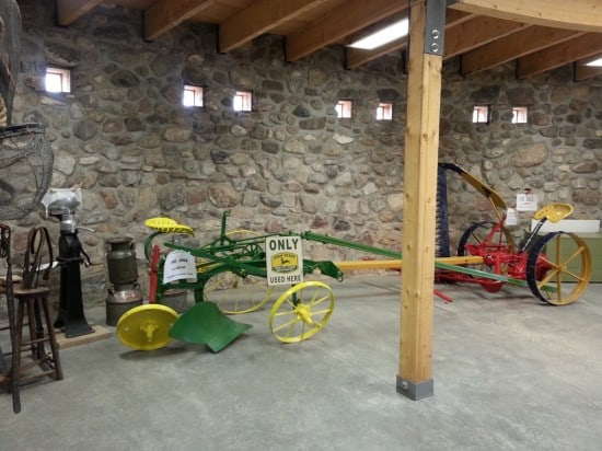 Historical farm equipment