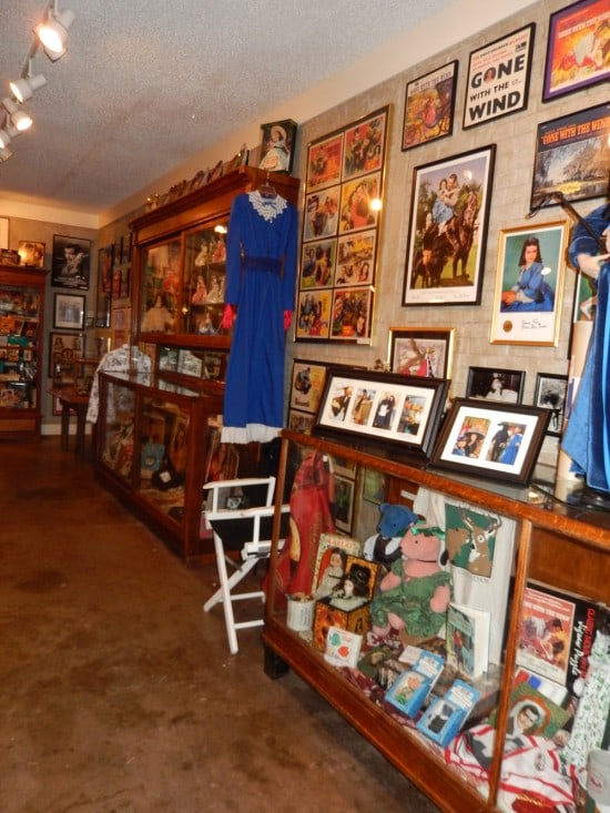 One display wall at Scarlett O'Hardy's Gone With the Wind Museum