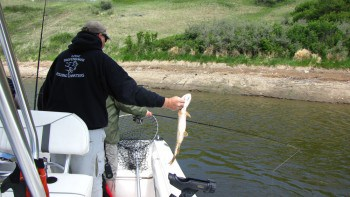 Fishing on Lake Diefenbaker