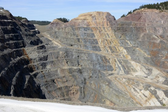 Homestake Open Pit Gold Mine in Lead, SD