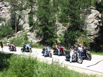 Motorcycles in Black Hills