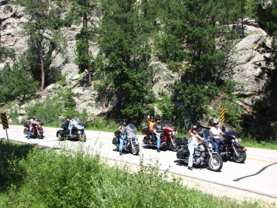 Motorcycles in Black Hills