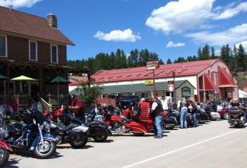 Motorcycles during Bike Week