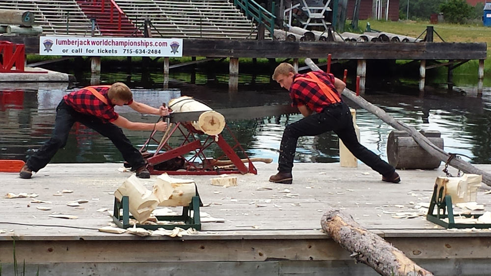 Things to do in the Wisconsin Northwoods–Watch a Lumberjack