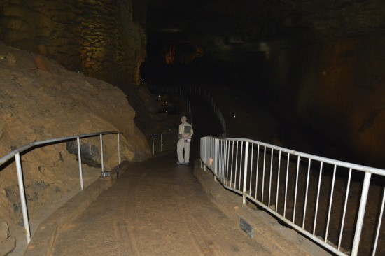 The wide cement trail through the Cathedral Cavern