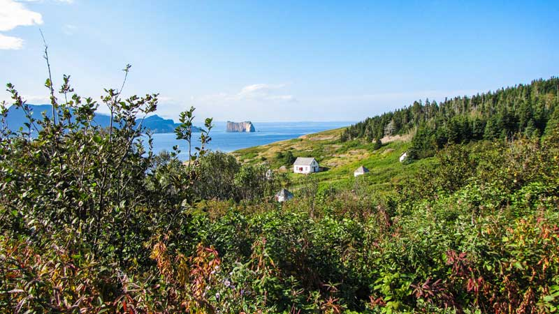 Bonaventure Island looking out to Percé Rock.