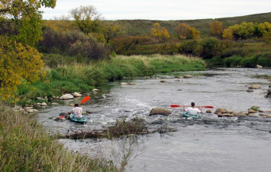 Kayakers on Wascana Creek