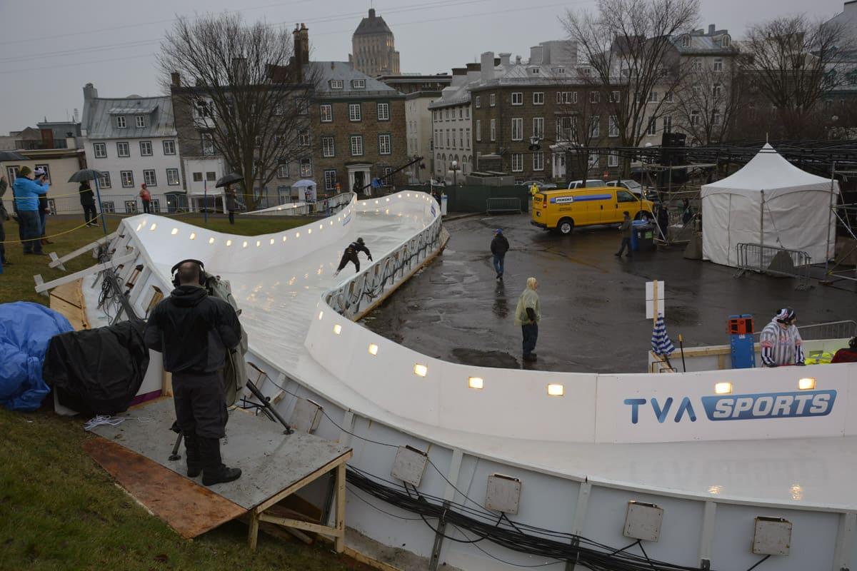 Quebec's Crashed Ice track