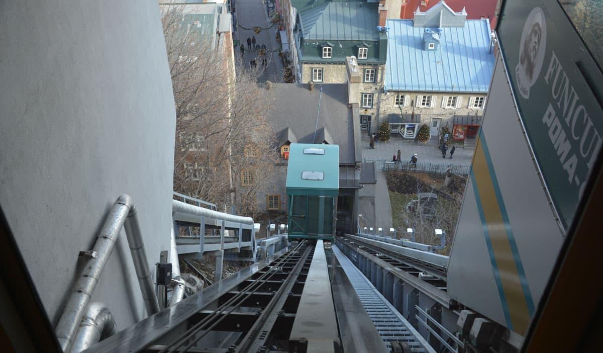 Funicular in Quebec Canada