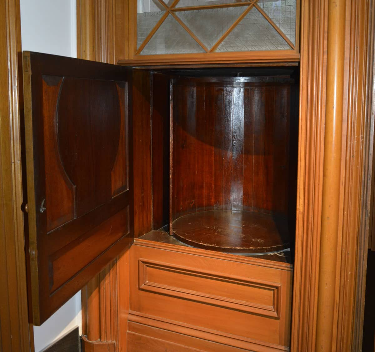 Quebec Augustinian Monastery Museum–Can You Guess the Historical Use for this Revolving Cupboard?