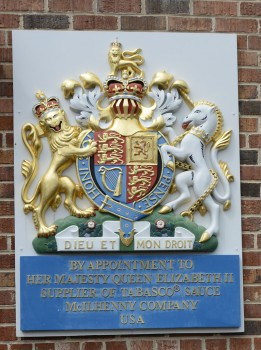 Royal Warrant of Appointment for Tabasco sauce