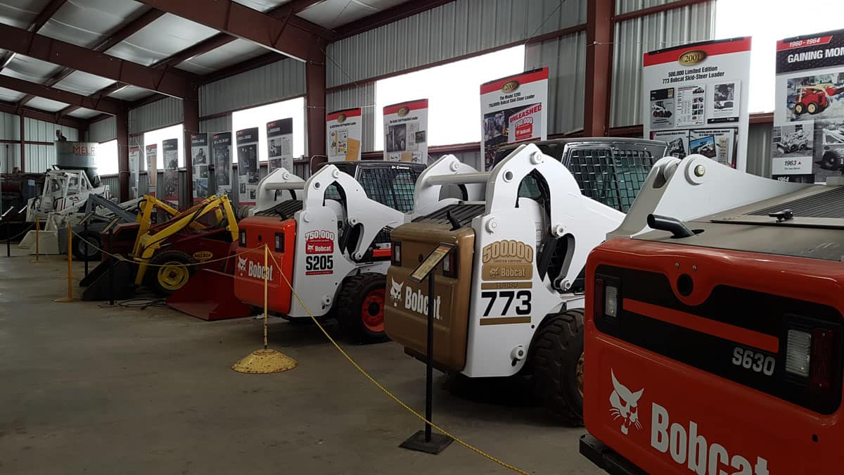 Bobcat display at Bonanzaville in Fargo, ND