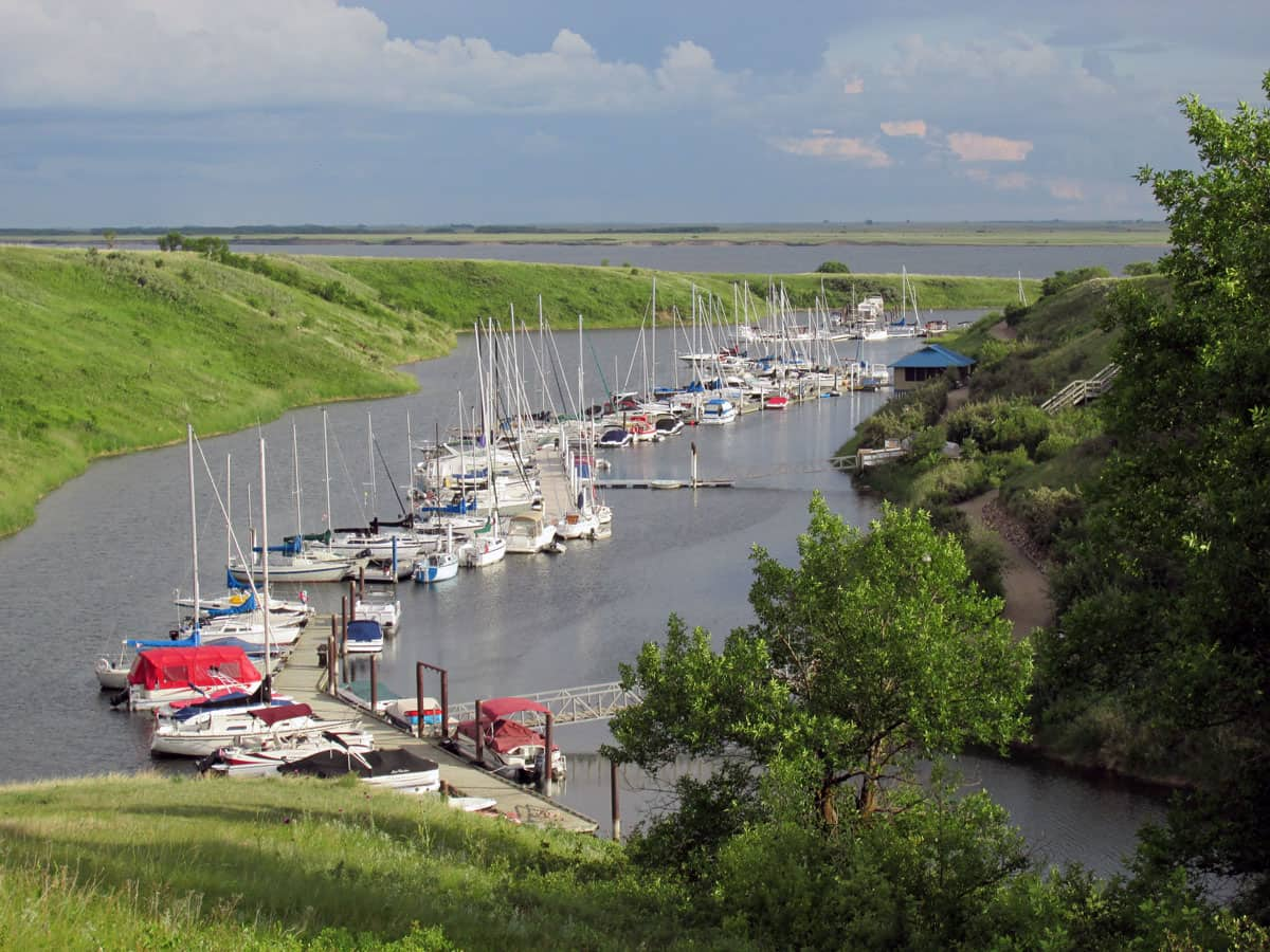 Lakeside Marina on Lake Diefenbaker
