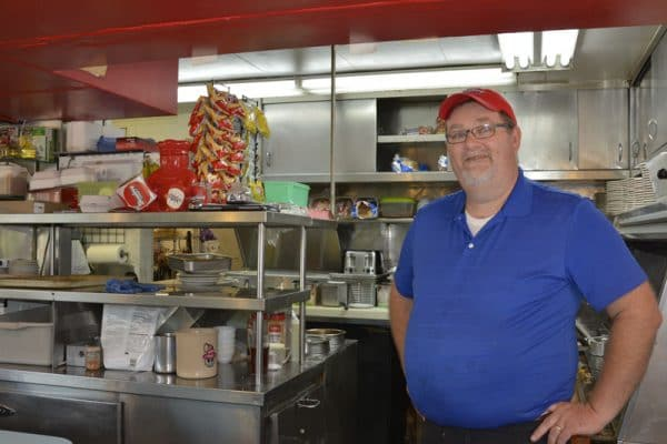 Dave Johnson, owner of the Broadway Diner, in Columbia, Missouri.