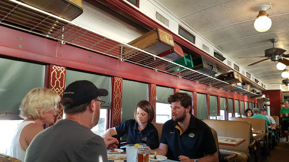 Dine at Kedhe's BBQ in Sedalia, MO, in a 1920 Railroad Car