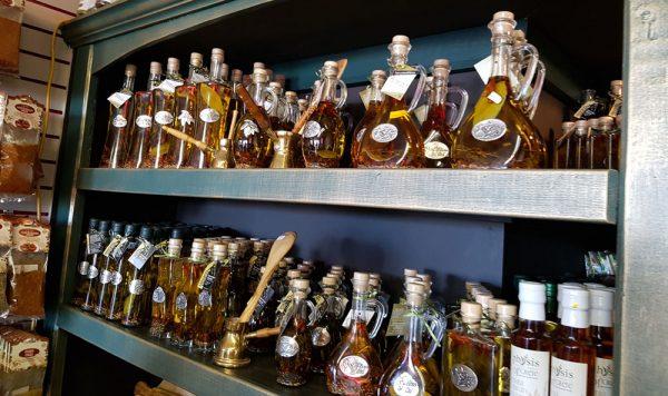 Assortment of olive oils.