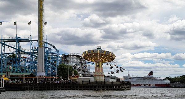 Gröna Lund amusement park in Stockholm.
