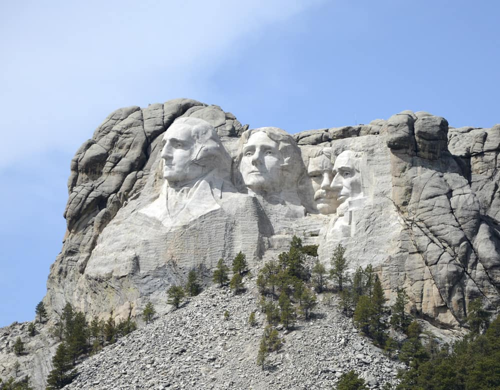 Mt. Rushmore in South Dakota.