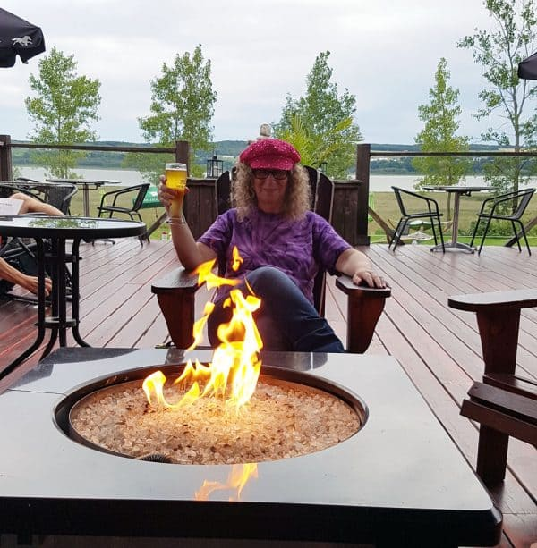 Linda Aksomitis relaxing at Spa des Neiges outside Quebec City.