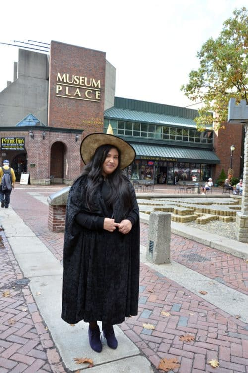 Witch in Salem, Massachusetts.
