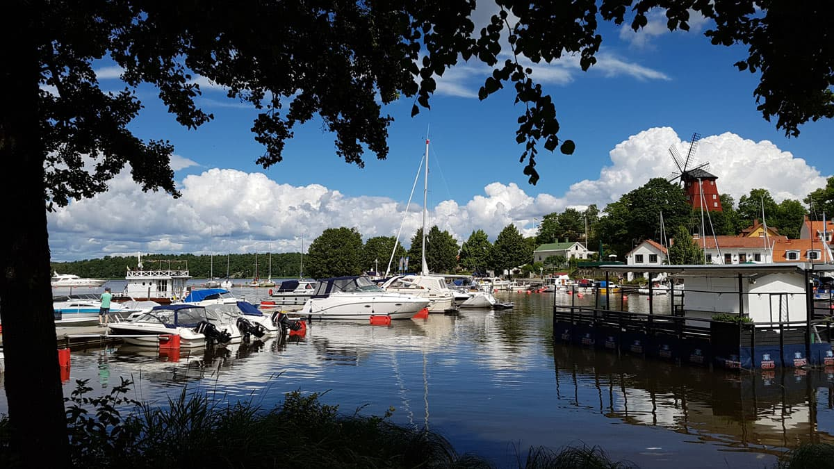 Strangnas is a picturesque town on Lake Malaren in Sweden.