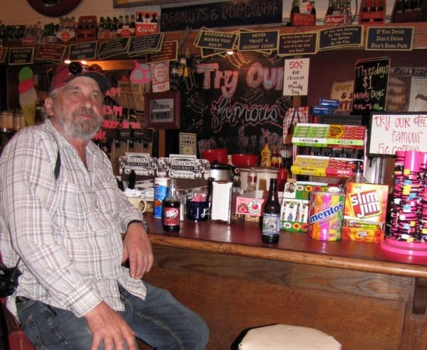 David Aksomitis enjoying a cold drink in Jefferson, Texas.