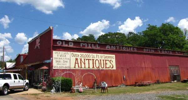 Old Mill Antiques in Jefferson, Texas.