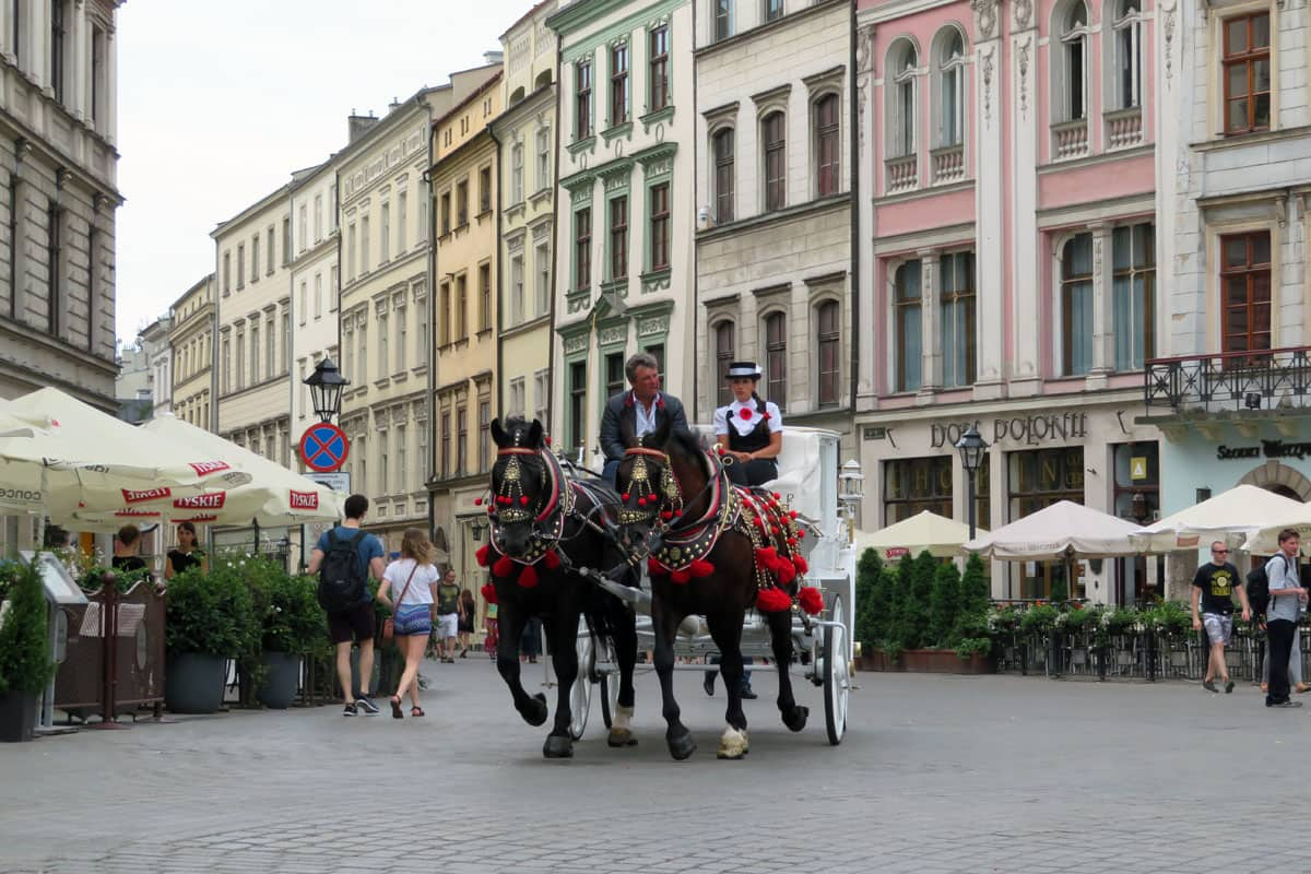 Antique Horse Drawn Carriage Ride in Kraków Old Town – #photooftheday
