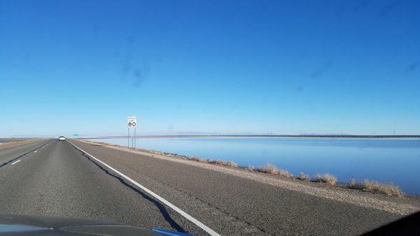 I-80 along Bonneville Salt Flats