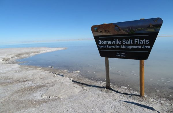 Bonneville Salt Flats Recreation Area in Utah