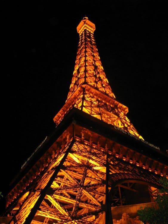 Eiffel Tower at the Paris Hotel in Las Vegas.