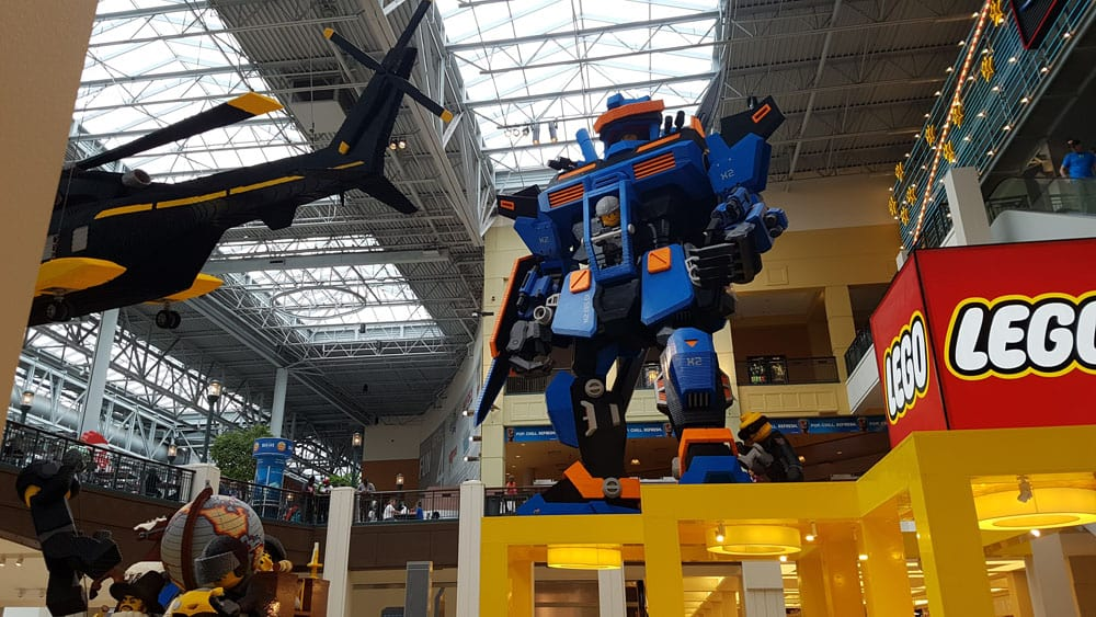 Lego robot or transformer at Mall of America in Bloomington, MN.