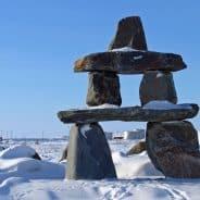 Inuksuk in Churchill, Manitoba.