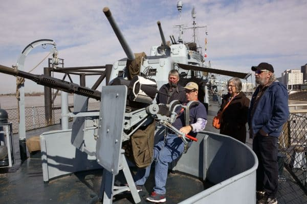 Captain Buck, docent on the USS Kidd in Baton Rouge.