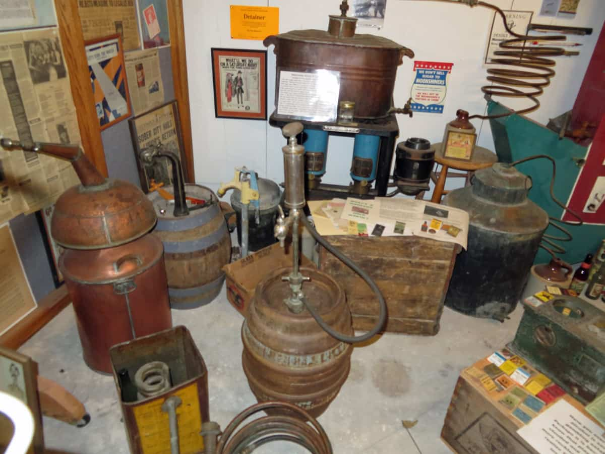 Bootlegger's still at the Miracle of America Museum in Polson, Montana.