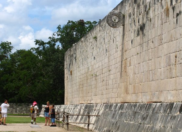The ball court at Chichen Itza in the Yucatan in Mexico.