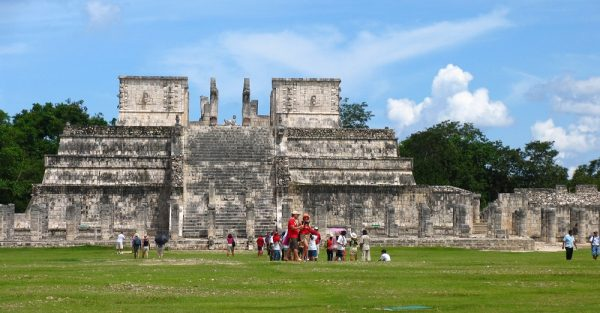 Temple of the Warriors at the Chichen Itza site in Yucatan, Mexico.