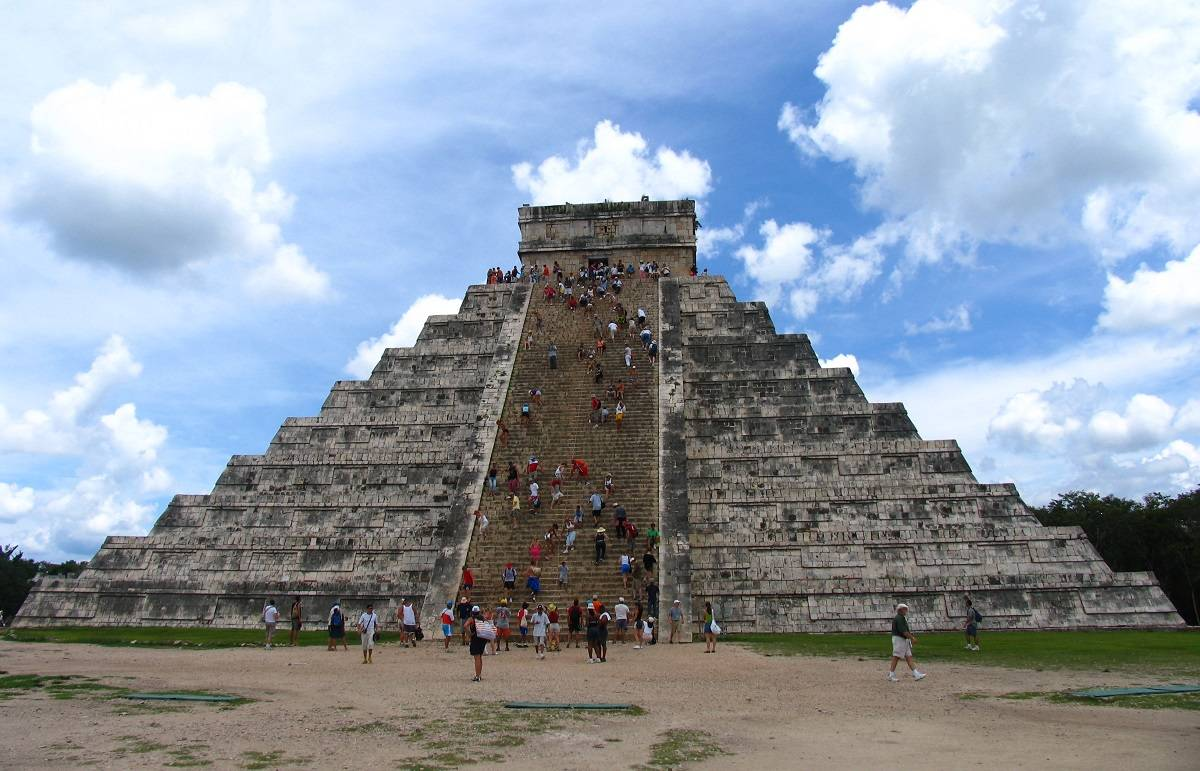 Chichen Itza in the Yucatan in Mexico.