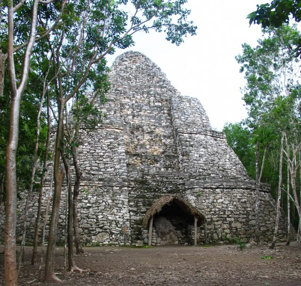 Lxmoja pyramid in Coba in the Yucatan in Mexico.