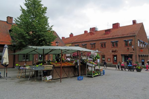 Shopping and Market Center in Sigtuna, Sweden.