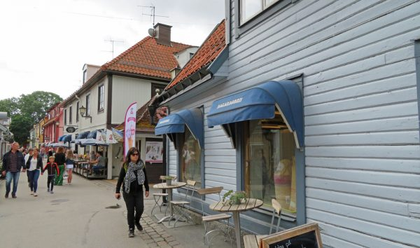 Shopping district in Sigtuna.