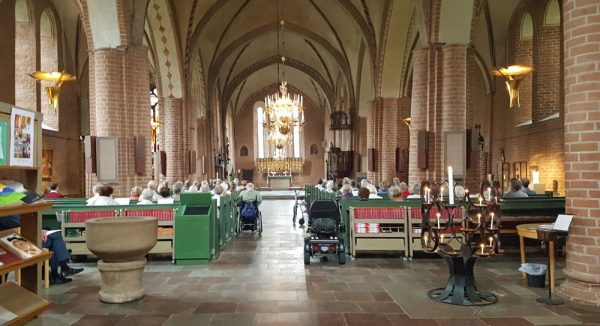 Musical concert inside St. Mary's Church in Sigtuna, Sweden.
