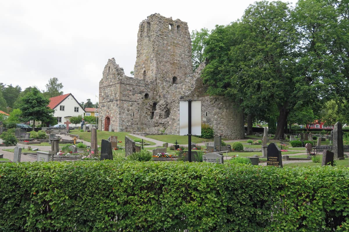 Church ruins in Sigtuna, Sweden.