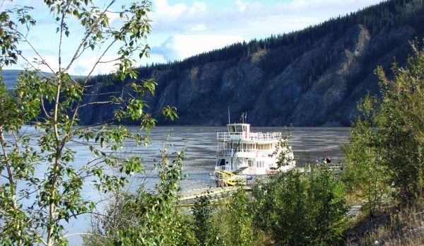 Dawson City sits on the banks of the Yukon River
