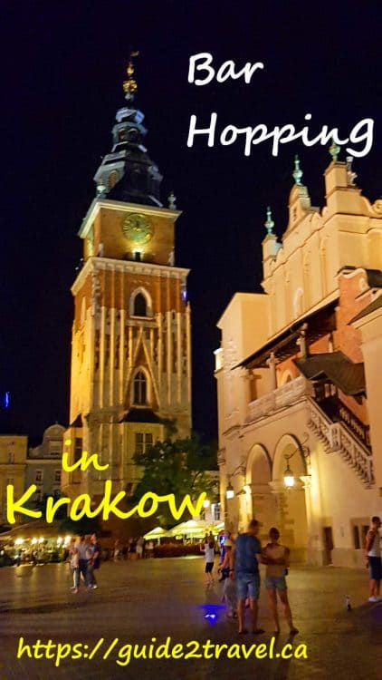 Bar hopping in Krakow by https://guide2travel.ca