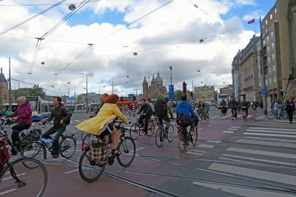 Amsterdam by bicycle.