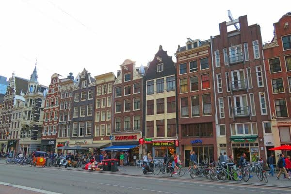 Business street in Amsterdam