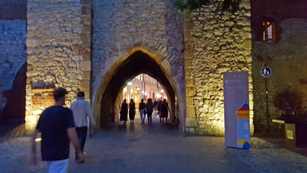 Historic gate into Krakow Old Town.