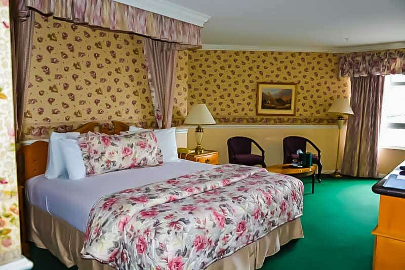 Room at the Ascot Suites in Morro Bay, California.