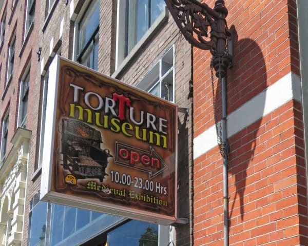 Amsterdam Torture Museum Sign